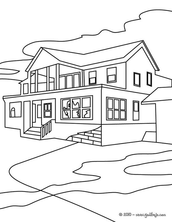 Imagenes para dibujar faciles for Fachadas de casas modernas para colorear