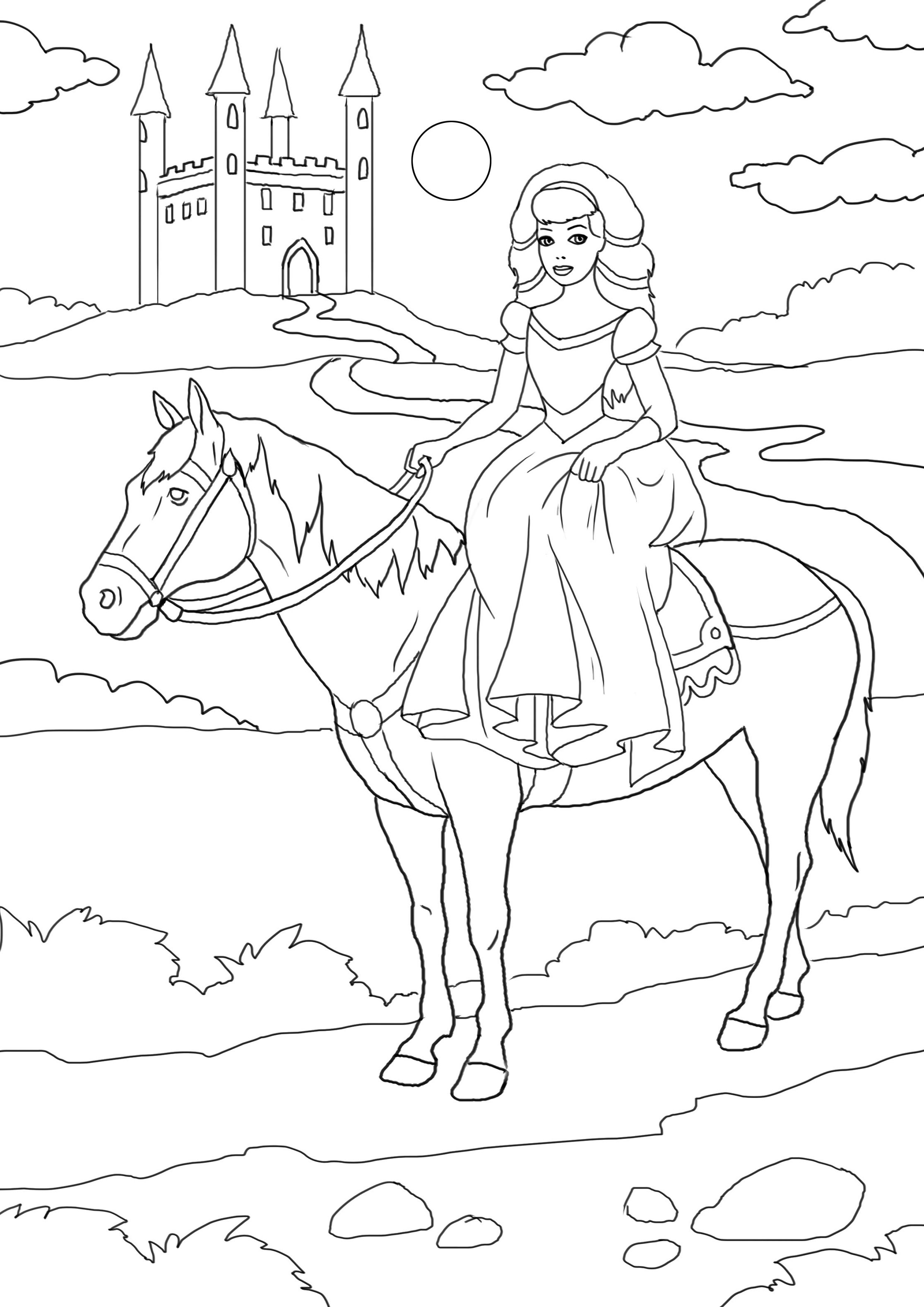 Leuke Paarde Kleurplaat Dibujos De Princesas Para Colorear