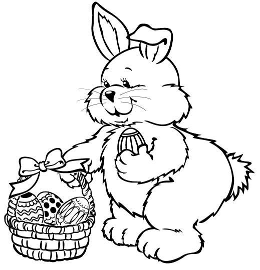 Conejos para colorear pascua