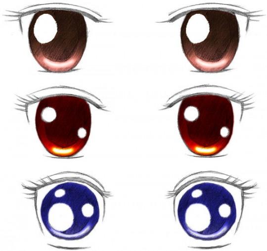 ojos anime hombre kawaii: Dibujar Ojos Anime