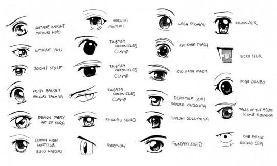 Dibujar ojos anime para descargar