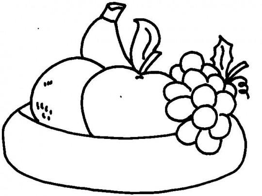 Dibujos de frutas para colorear multiples