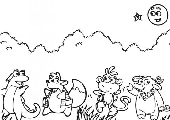Dibujos para colorear de dora exploradora