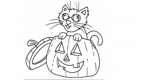 Dibujos para colorear de halloween animales
