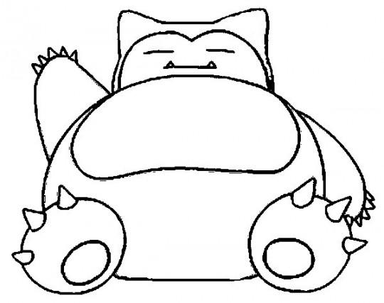 Dibujos para colorear de pokemon snolax