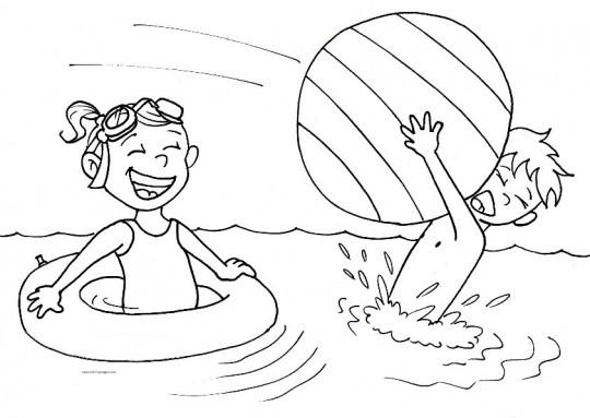 Dibujos para colorear on line playa