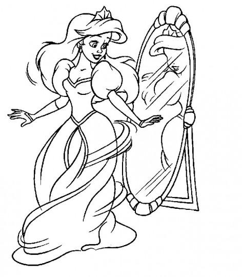 Dibujos para pintar de princesas