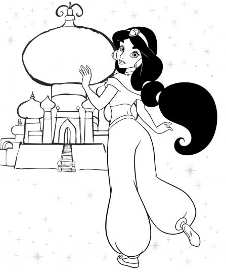 Dibujos para pintar de princesas disney