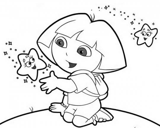 Dora La Exploradora Para Colorear