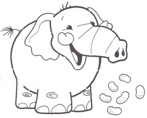 Dibujo Elefante Para Colorear E Imprimir: Elefantes Para Colorear