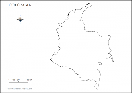 Escudo De Colombia Para Colorear
