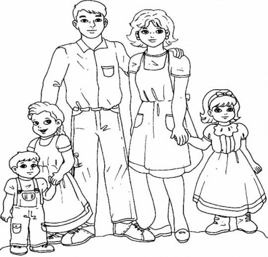 Familia Para Colorear