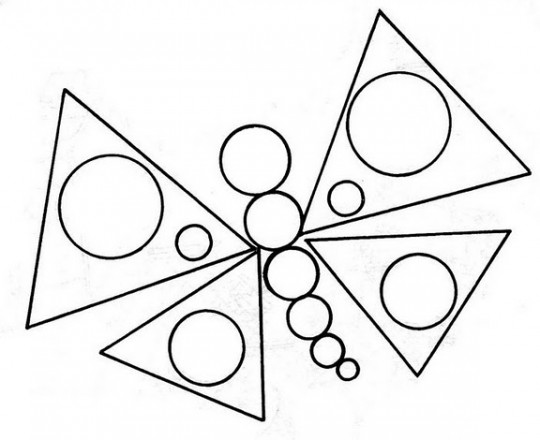 Figuras geometricas para colorear mariposa