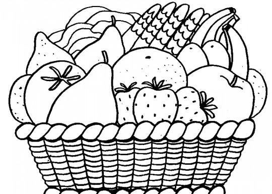 Frutas para colorear