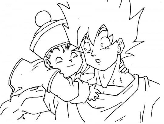 Goku para colorear gohan