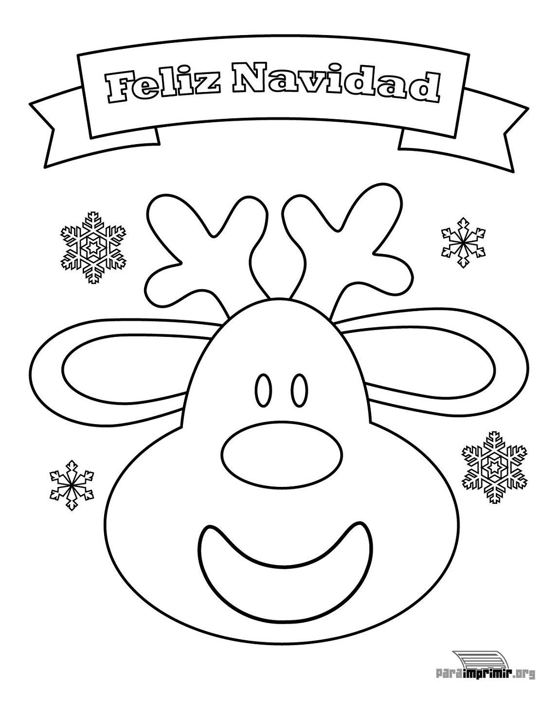 Excelente Linda Navidad Para Colorear Para Imprimir Componente ...