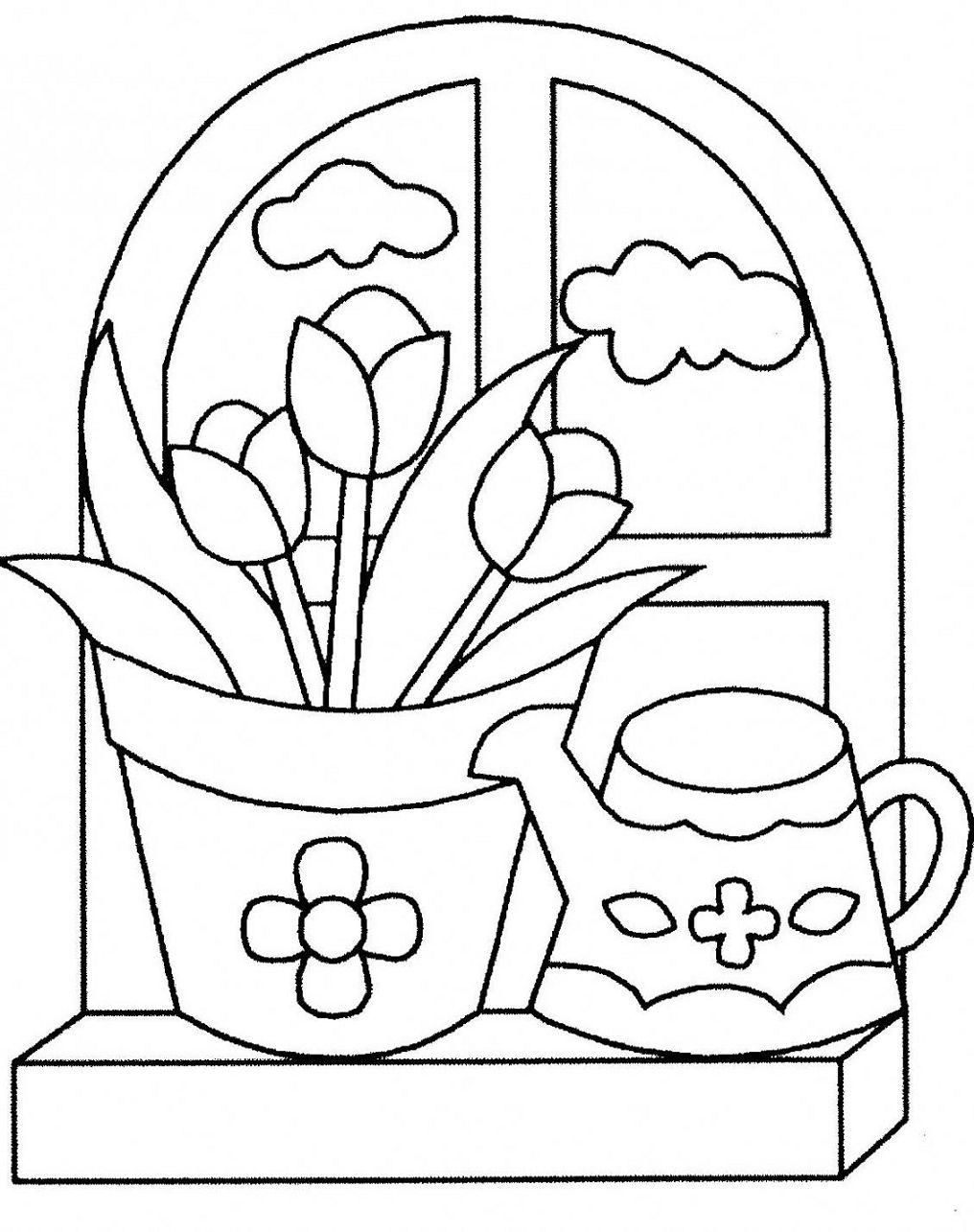 Imagenes de flores para colorear y dibujar