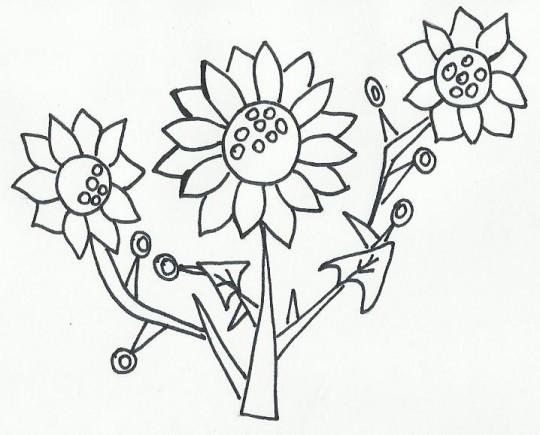 Imagenes flores para pintar