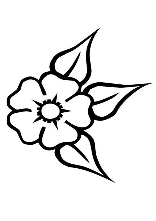 Imagenes de flores para colorear y dibujar - Fleure a dessiner ...