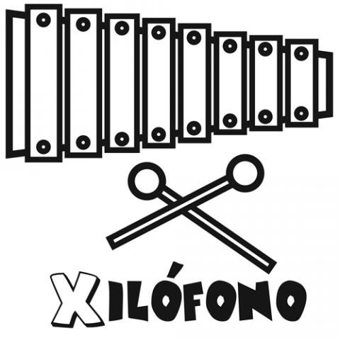 Instrumentos musicales para colorear gratis