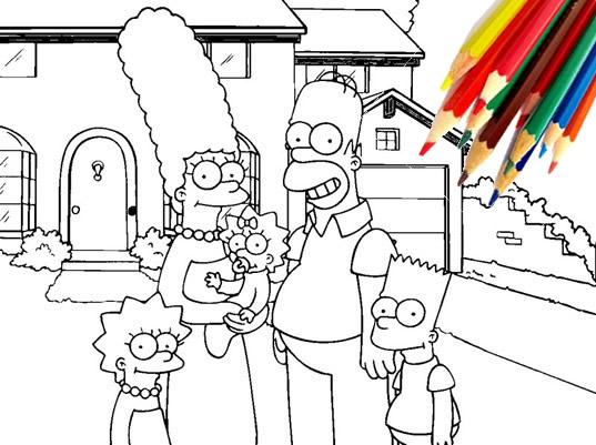 Juegos para pintar gratis los simpsons