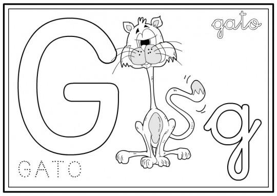 Letras para pintar G