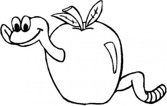 Manzana para colorear imagen