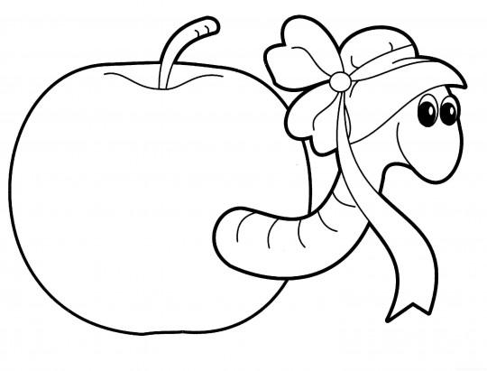 Manzanas para colorear online