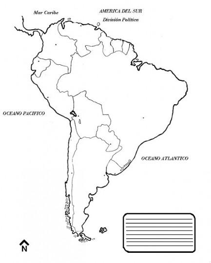 Mapa de america para colorear online