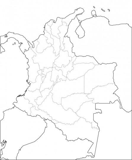 Mapa de colombia para colorear online