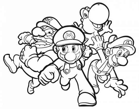 Mario bros para colorear y descargar