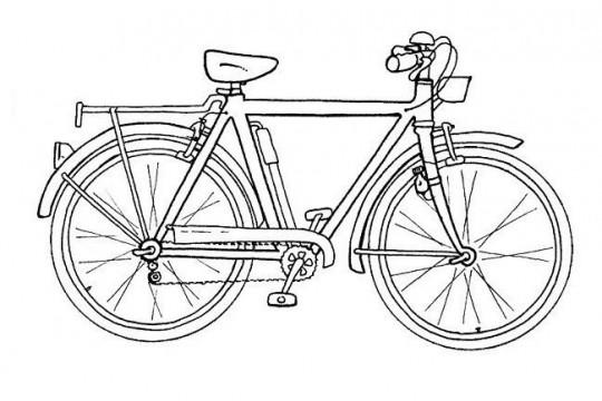 Medios de transporte para colorear bicicleta