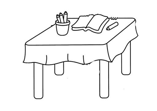 Mesa para colorear originales