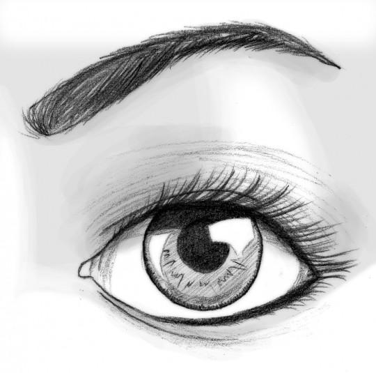 Ojos para dibujar a lapiz