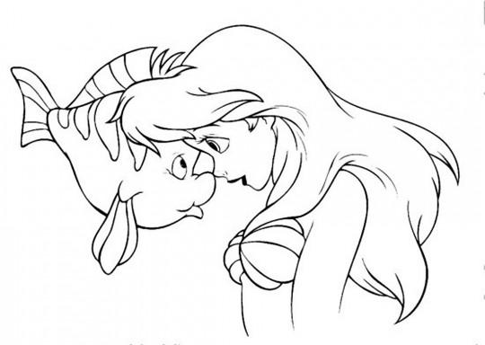 Princesas disney para colorear ariel