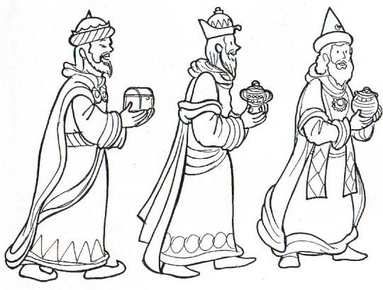 Reyes magos colorear