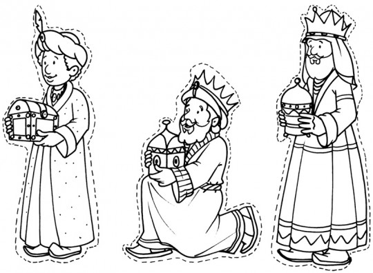 Reyes magos para colorear online
