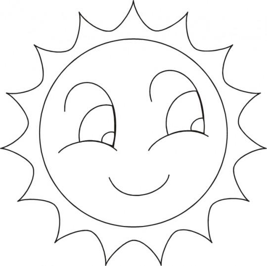 Sol Para Colorear