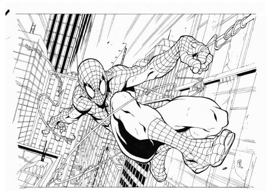 Spiderman para colorear comic
