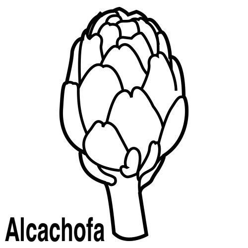 Verduras para colorear alcachofa